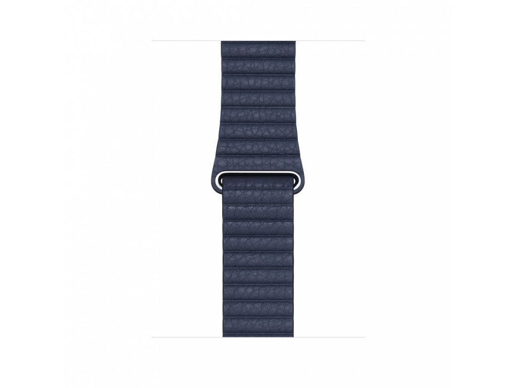 Apple Watch 44mm Band: Diver Blue Leather Loop - Medium (DEMO) (Seasonal Fall 2020)