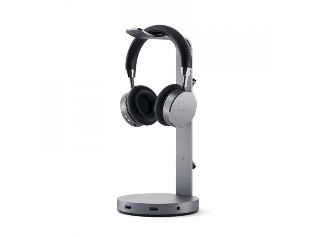 Satechi Aluminum Headphone Stand Hub - Space Grey