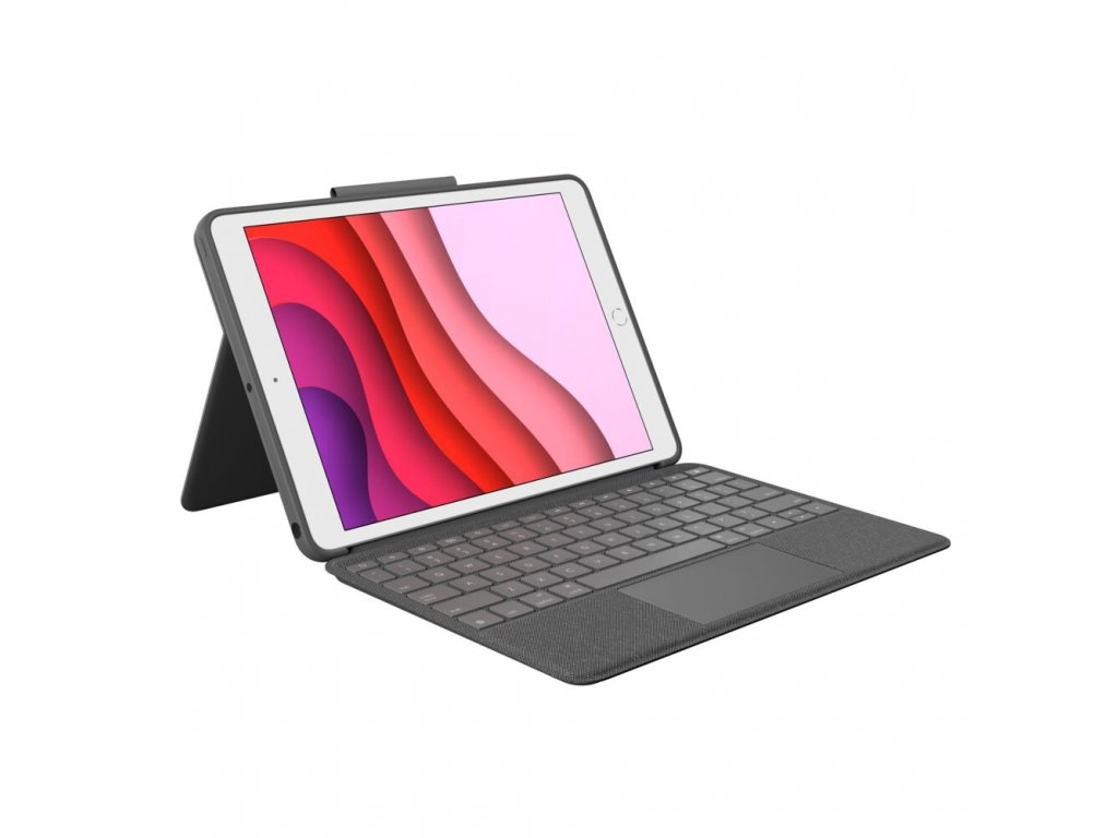 "Logitech Combo Touch keyboard case w Smart Connector & Trackpad for iPad 10.2"""" (7th, 8th Gen) - Carbon Black"
