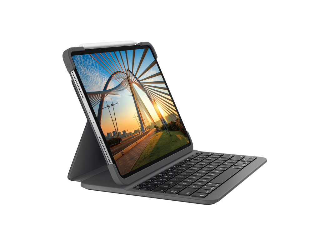 Logitech Slim Folio Pro for iPad Pro 12.9-inch (3rd & 4th gen) - Carbon Black
