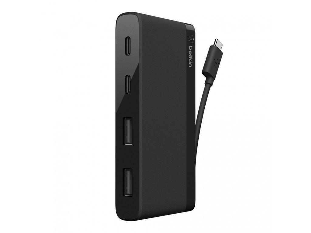 Belkin Hub 2-Port USB-C 2-Ports USB-A 5Gbps Data Transfer - White