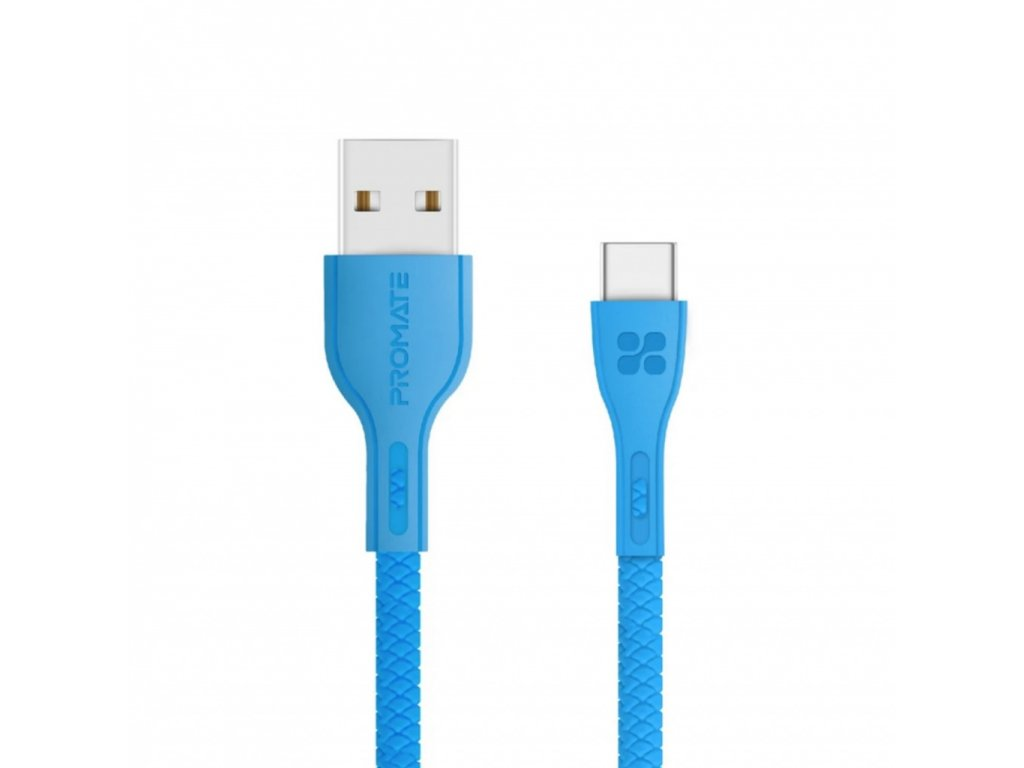 Promate PowerBeam-C Cable USB-A to USB-C 1.2m 2A - Blue