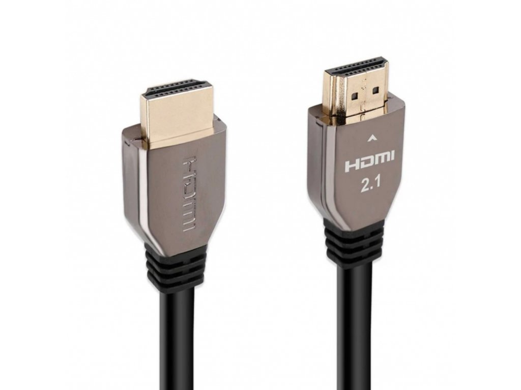 Promate ProLink8K-200 HDMI Cable Straight 8K 2.1 Audio Video Cable HDR Support eARC Connectivity 2.0m Anti-Corrosion - Grey