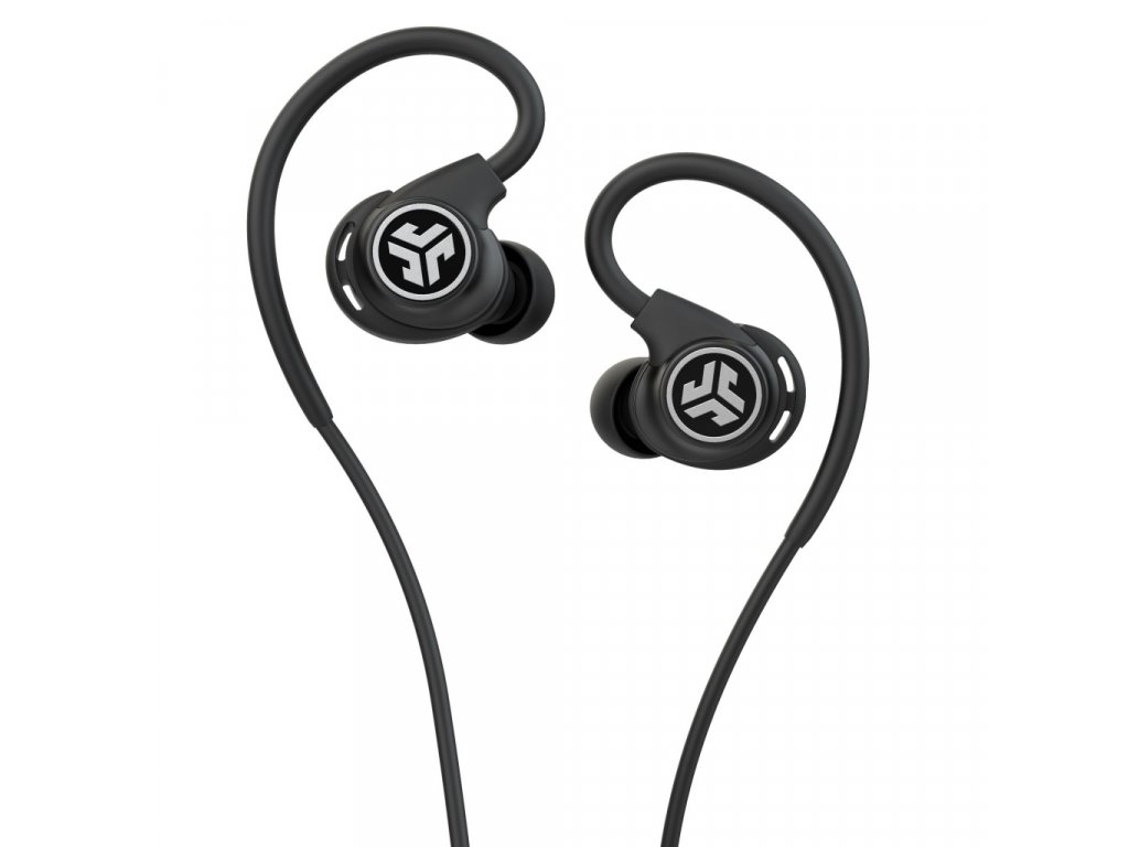 JLAB Fit Sport 3 Wired Fitness Earbuds Black