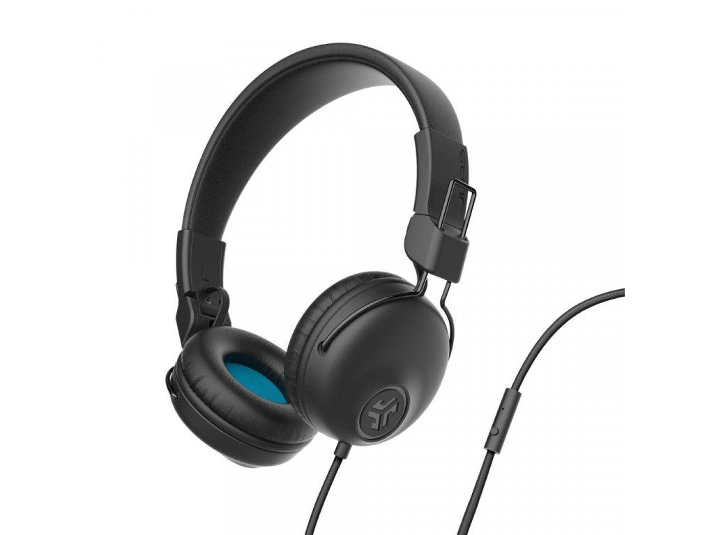 JLAB Studio Wired On Ear Headphones Black