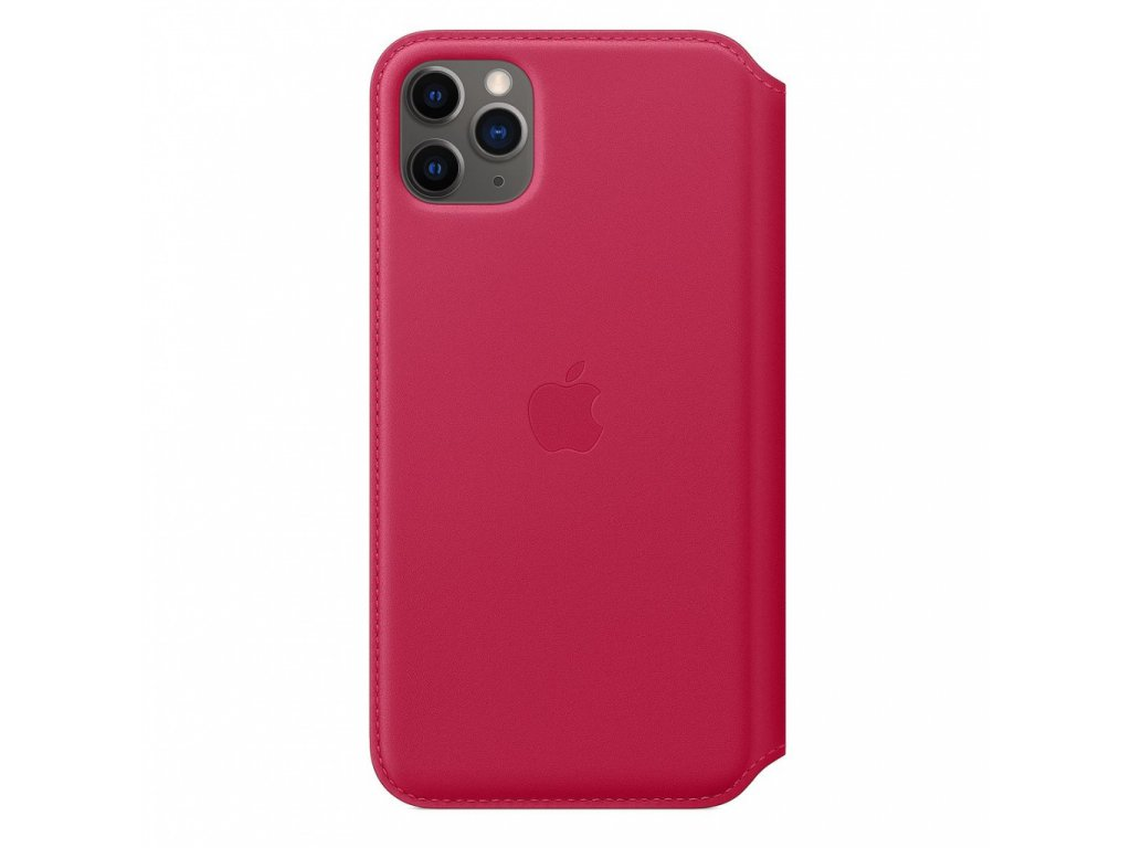 Apple iPhone 11 Pro Max Leather Folio - Raspberry (Seasonal Spring2020)