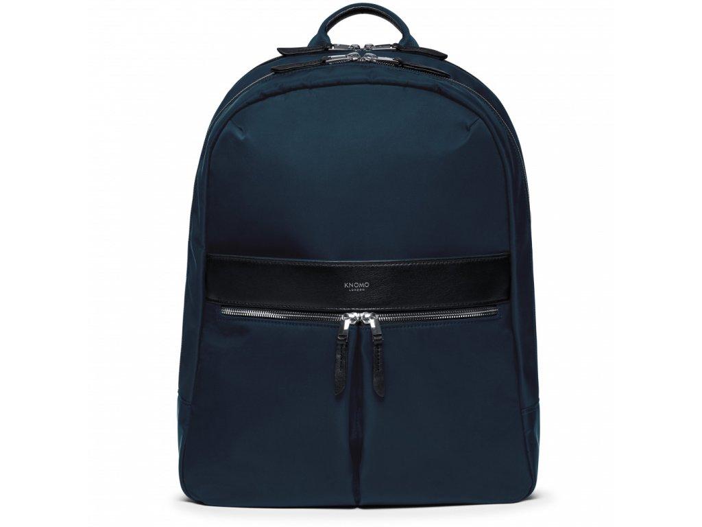 Knomo BEAUCHAMP XL Backpack 15.6-inch Nylon w Full Grain Leather Trim - BLAZER (Female)