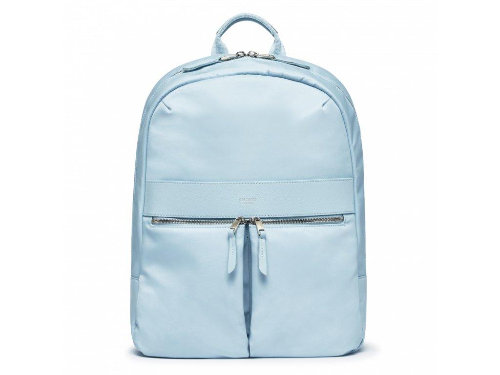 Knomo BEAUCHAMP L Backpack 14-inch Nylon w Full Grain Leather Trim - POPLIN BLUE (Female)