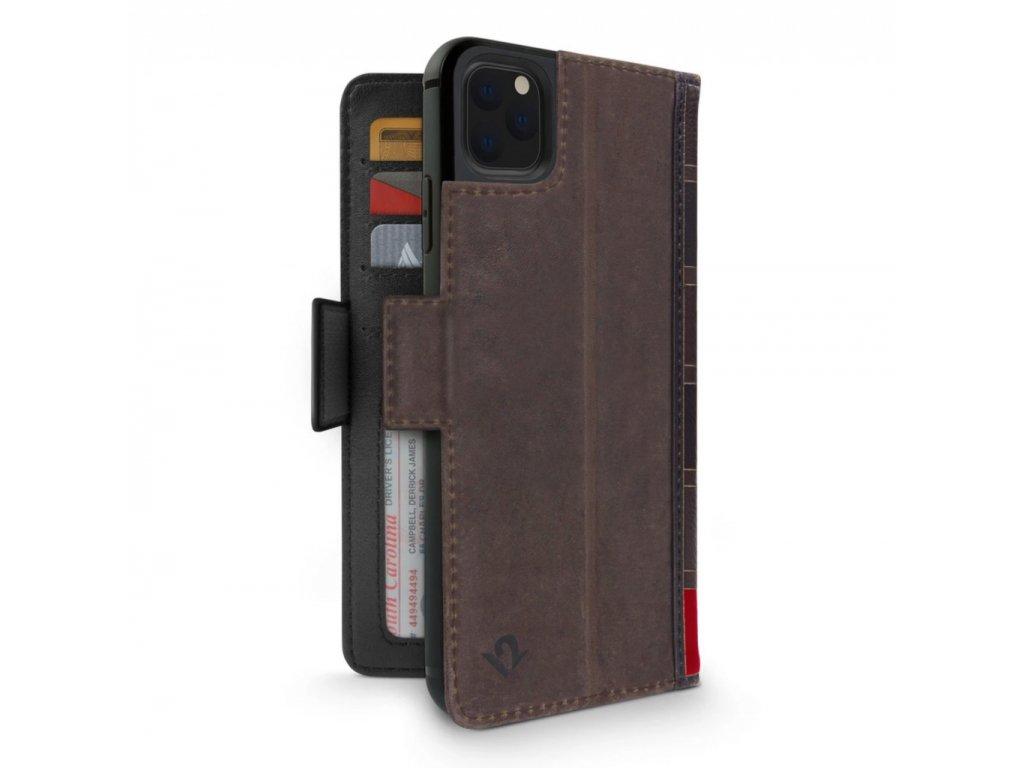 TwelveSouth BookBook Premium Leather Vol 2 for iPhone 11 Pro Max - Brown
