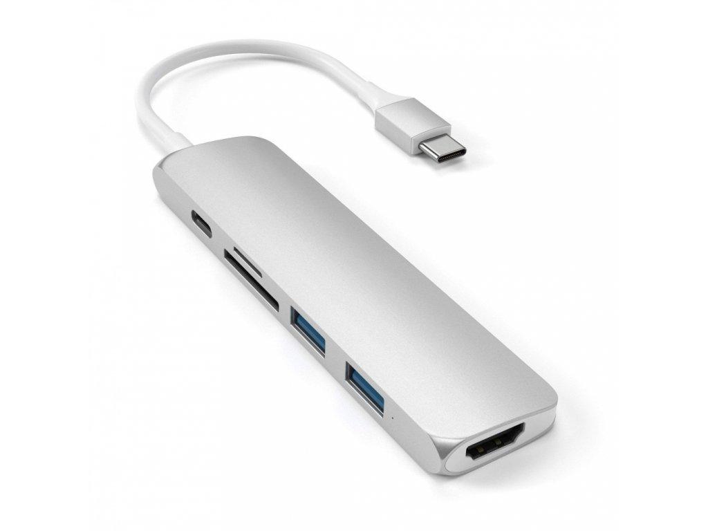 Satechi TYPE-C Slim Multimedia Adapter V2 - Silver