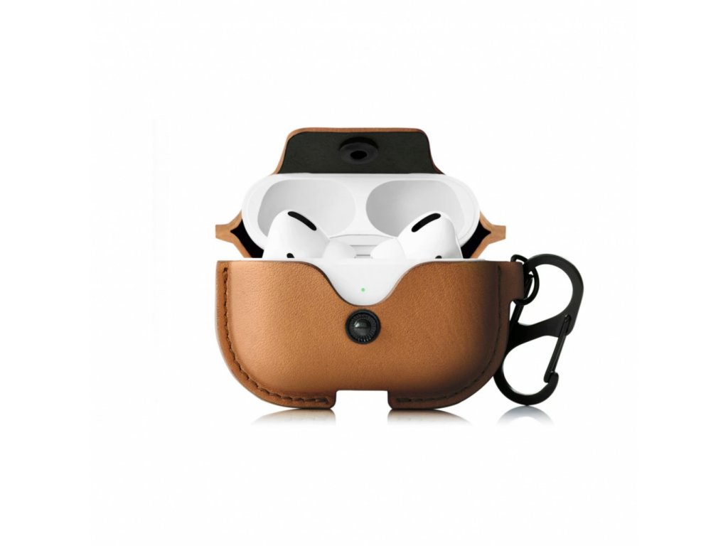 TwelveSouth AirSnap Charging Case for AirPods Pro - Cognac