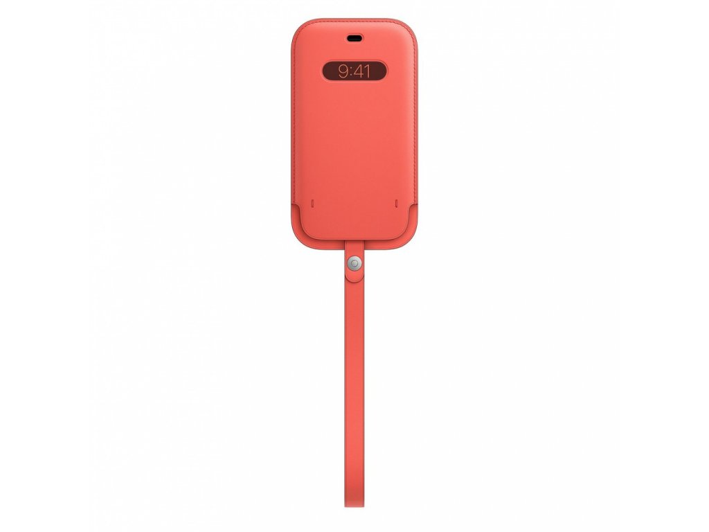 Apple iPhone 12 12 Pro Leather Sleeve with MagSafe - Pink Citrus (Seasonal Nov 2020)