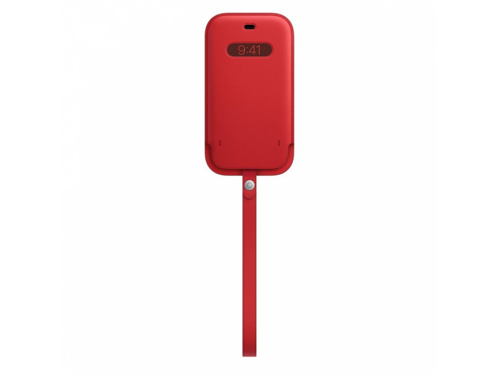 Apple iPhone 12 12 Pro Leather Sleeve with MagSafe - (PRODUCT)RED