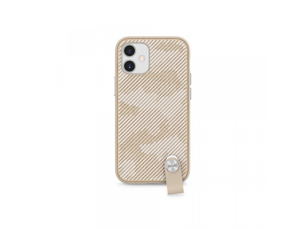 Moshi Altra slim case w detachable wrist strap for iPhone 12 mini (SnapToª) - Beige