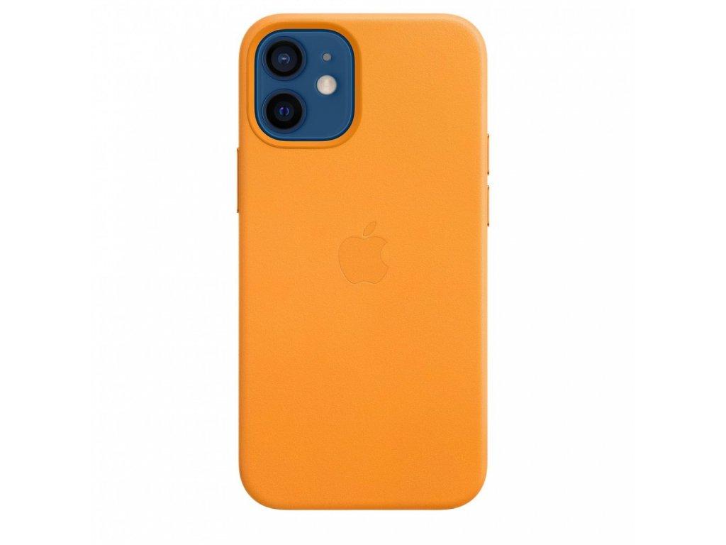 Apple iPhone 12 mini Leather Case with MagSafe - California Poppy (Seasonal Fall 2020)