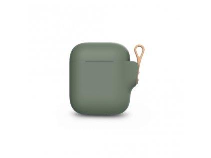 Moshi Pebbo AirPods Case (1st/2nd Gen) Detachable Wrist Strap & LintGuardª Protection - Mint Green