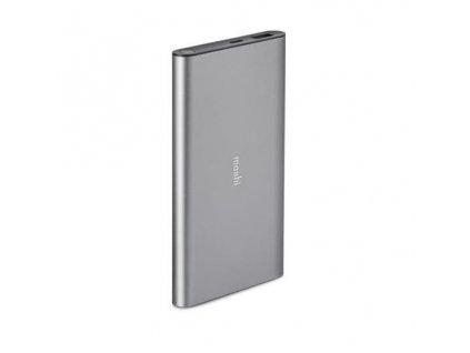 Moshi IonSlim 10K USB-C Portable Battery w 1x USB-C & 1x USB-C to USB-A Cable - Titanium Gray