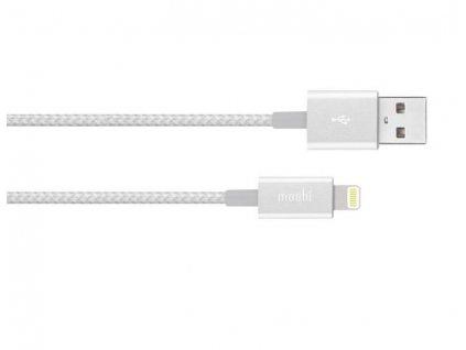 Moshi Integra USB-Nabíjecí a synchronizační kabel s konektorem Lightning - Jet Silver