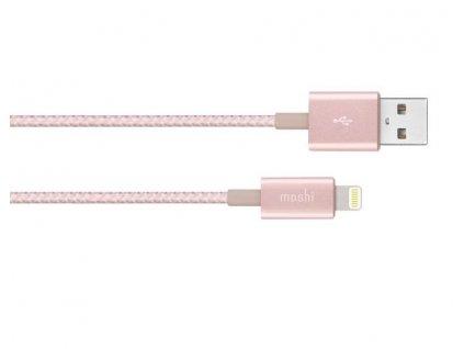 Moshi Integra USB-Nabíjecí a synchronizační kabel s konektorem Lightning - Golden Rose