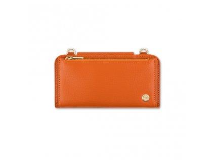 Moshi SnapToª Crossbody Wallet All-in-one carrying wallet - Sienna Orange