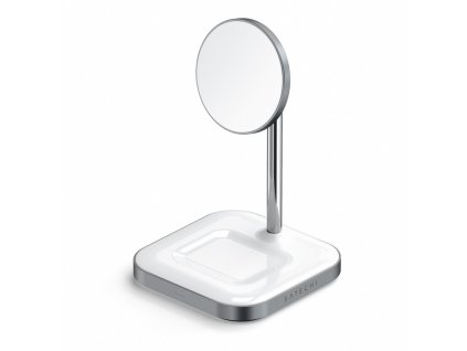 Satechi Aluminium 2-in-1 Magnetic Wireless Charging stand USB-C - White