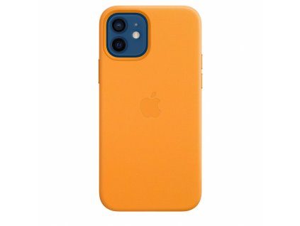 Apple iPhone 12/12 Pro Leather Case with MagSafe - California Poppy (Seasonal Fall 2020)