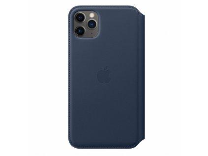 Apple iPhone 11 Pro Max Leather Folio - Deep Sea Blue (Seasonal Spring2020)
