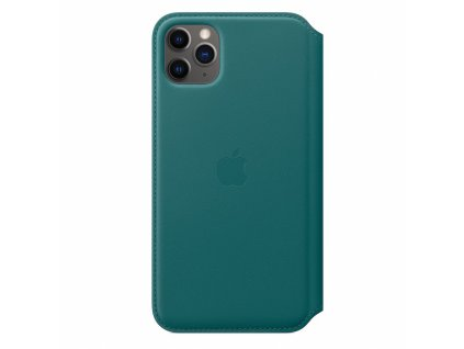 Apple iPhone 11 Pro Max Leather Folio - Peacock (Seasonal Spring2020)