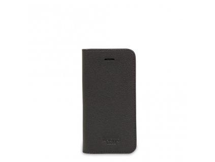 Knomo Leather Folio Case for iPhone 5/5s/SE - Black