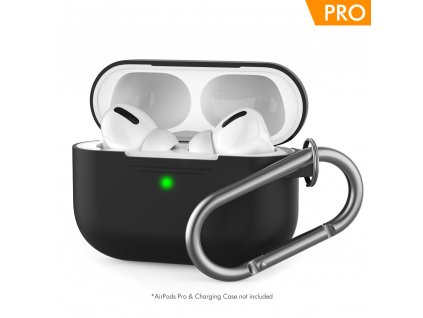 AhaStyle Silicone Case for AirPods Pro with Belt - Black