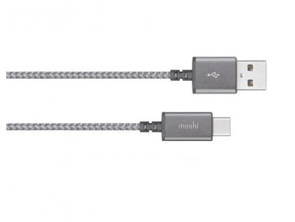 Moshi Integra USB-C to USB-A Nabíjecí a synchronizační kabel - Titanium Gray