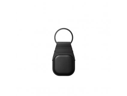 Nomad Leather Keychain, black - Airtag