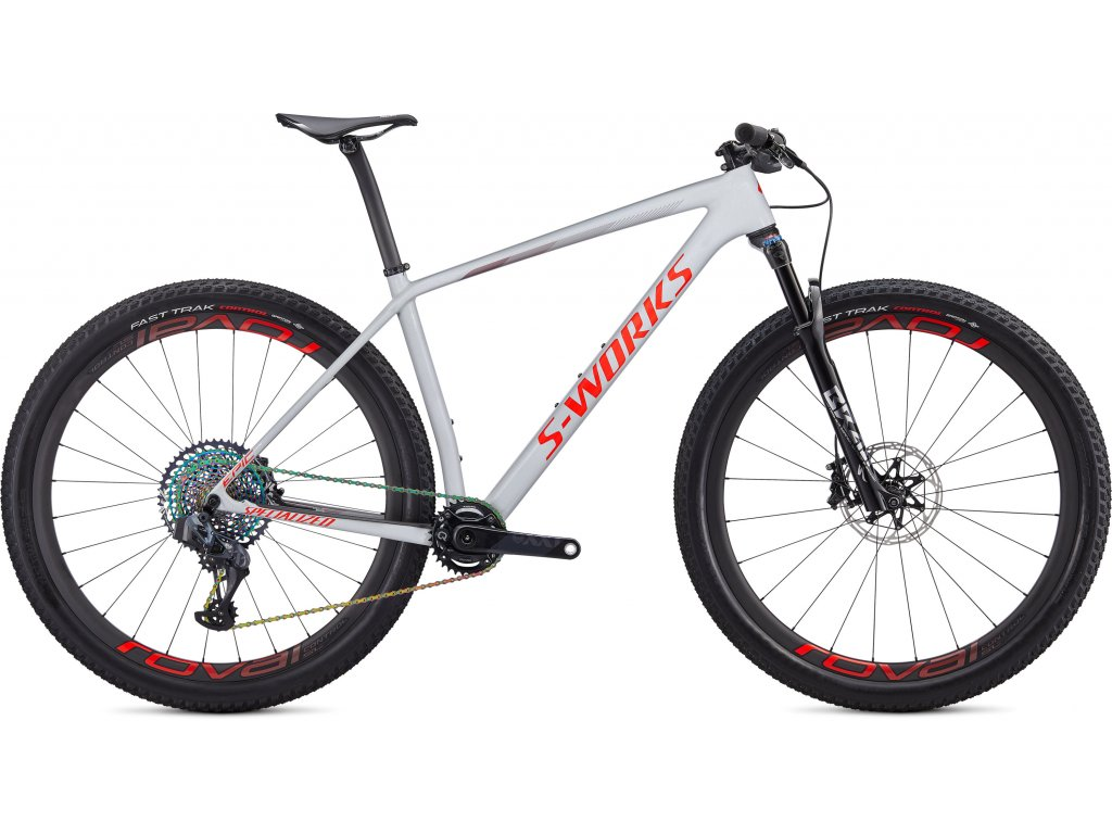 S-Works Epic Hardtail AXS Gloss Dove Grey/Rocket Red/Crimson