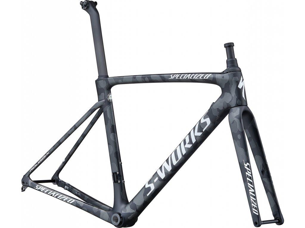 S-Works Roubaix – Team Satin Black/Charcoal Camo/Gloss Pearl White