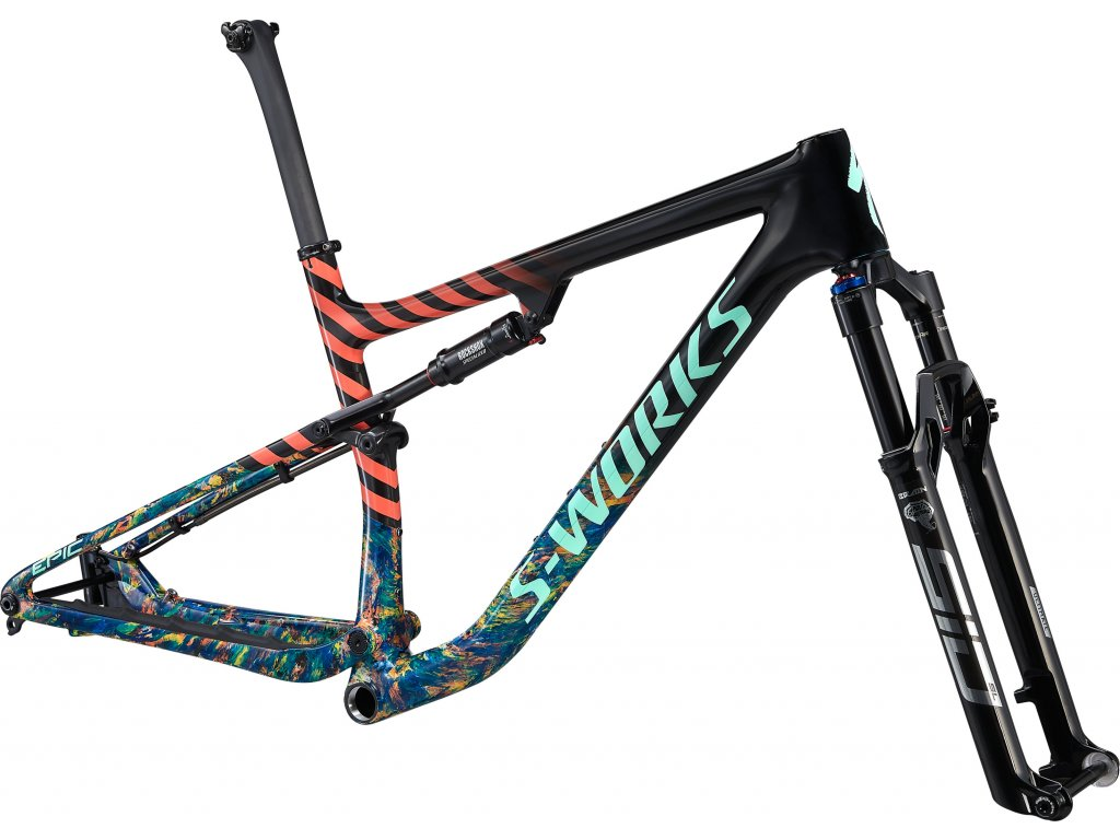 S-Works Epic Frameset GLOSS CARBON/COBALT MARBLE/BRASSY YELLOW MARBLE/VIVID CORAL/OASIS