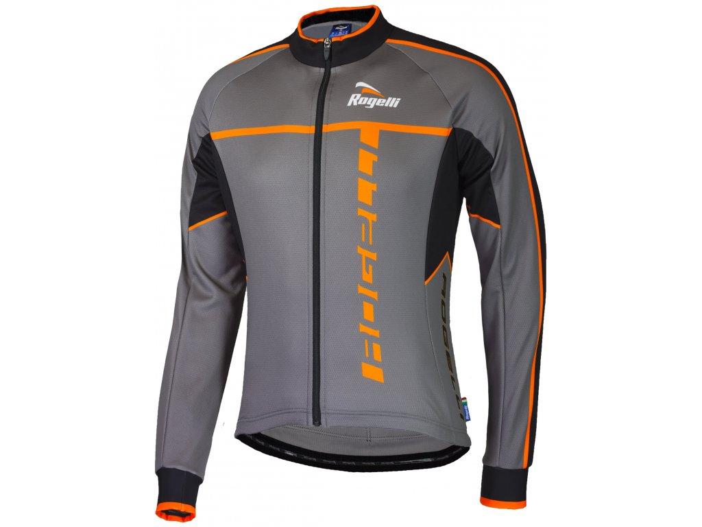 cyklisticky dres rogelli umbria 2 0 s dlouhym rukavem sedo oranzovy original