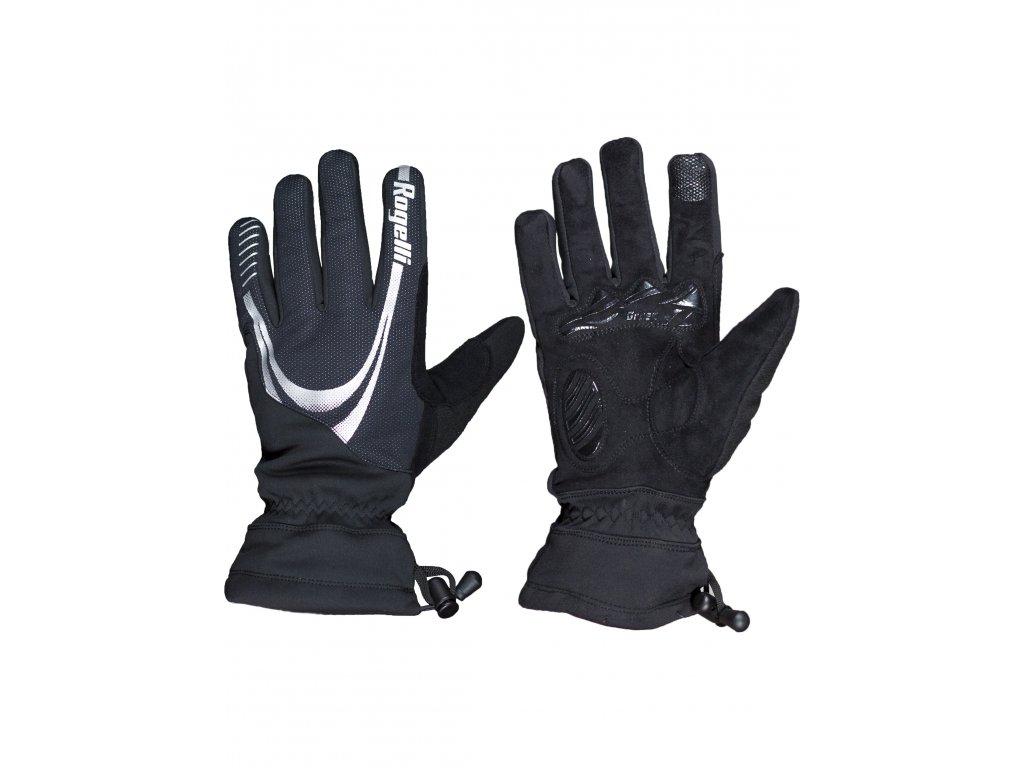 silne hrejive nepromokave zimni rukavice s protiskluzovu dlani rogelli noorvik cerne original