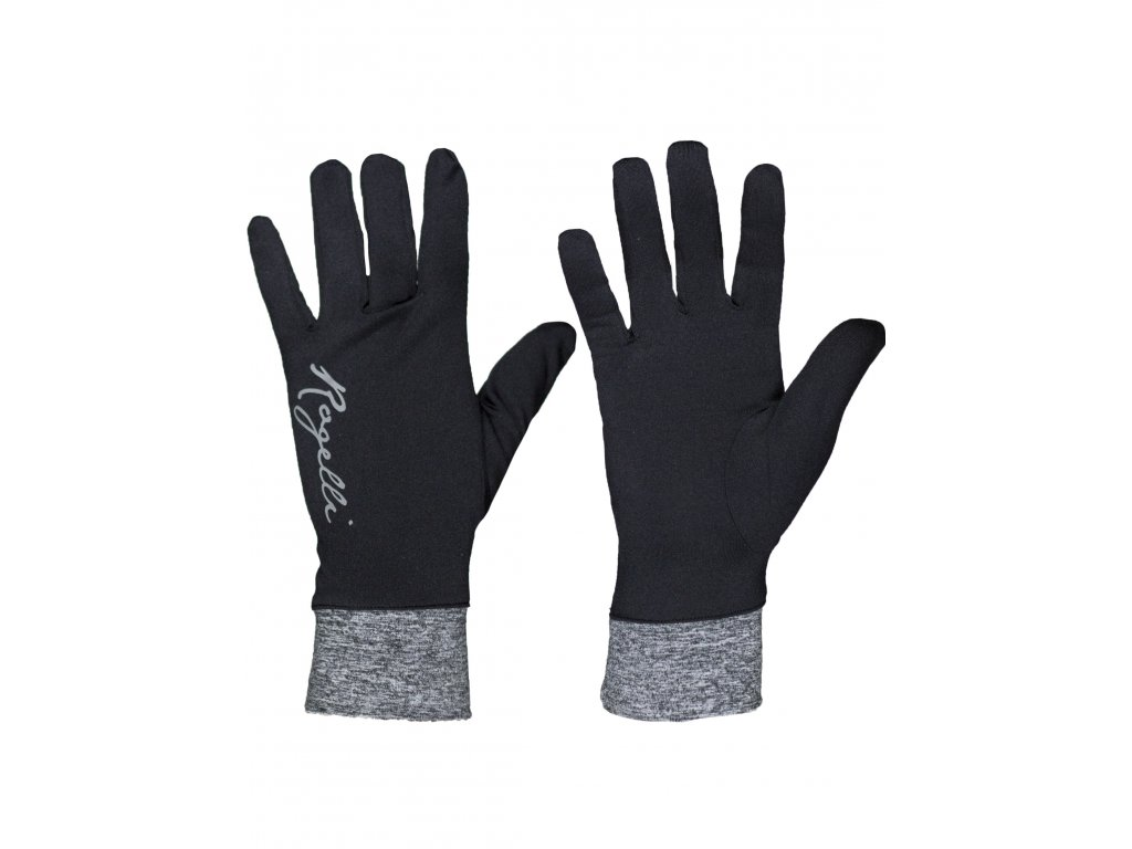 extra slabe damske rukavice rogelli marta cerno sede original