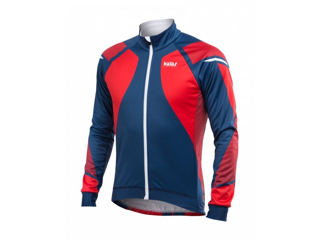 Cyklistická Zimní bunda TITAN X8   červená/modrá