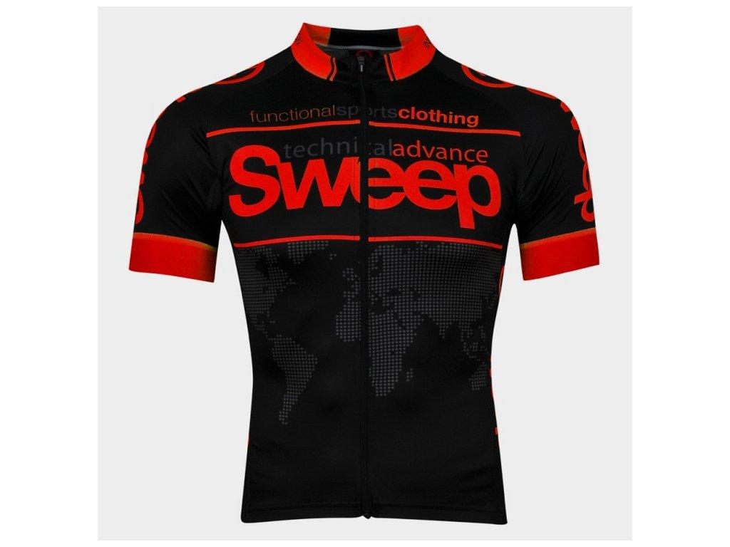 Cyklistický dres Sweep RACE D026 black/red