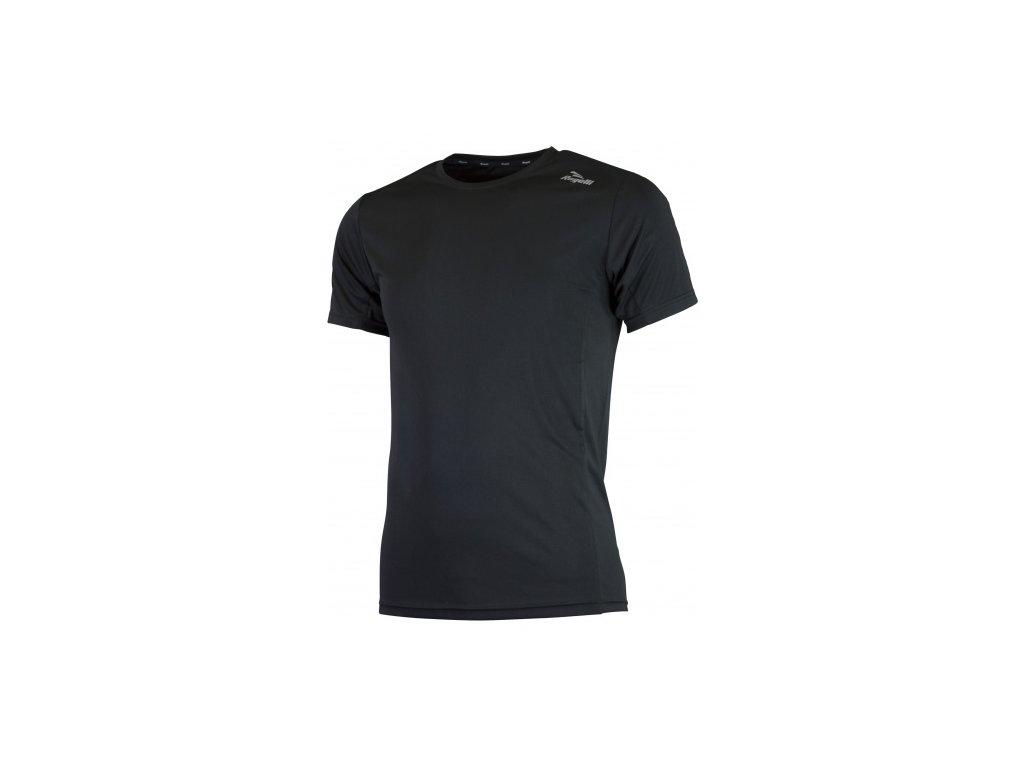 Sportovní funkční triko Rogelli BASIC z hladkého materiálu, černé