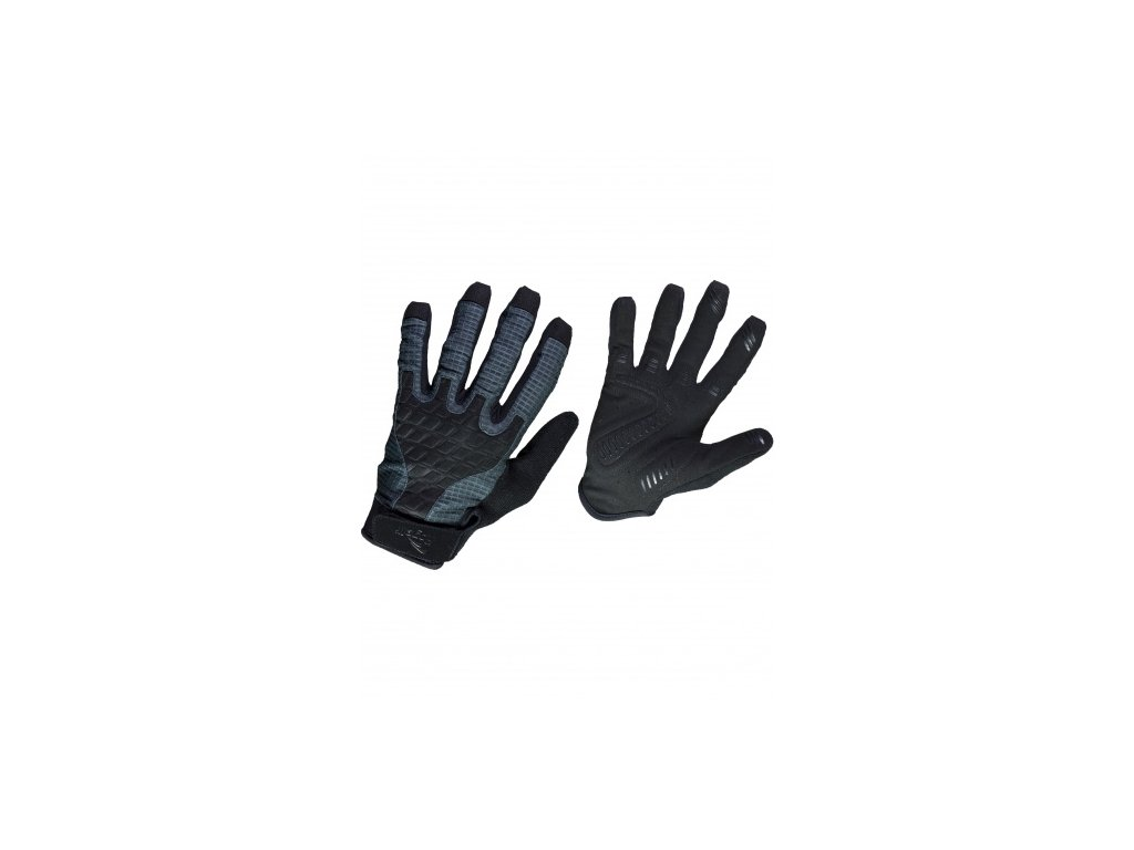 Ultralehké cyklistické MTB rukavice Rogelli ADVENTURE, černo-šedé