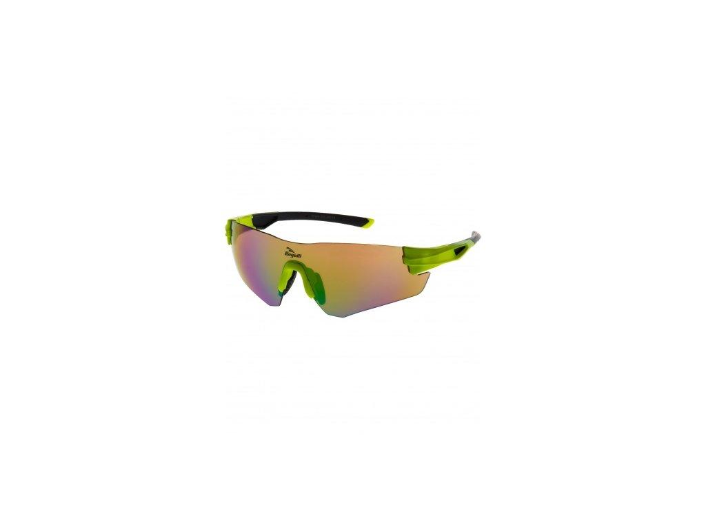 Sportovní brýle Rogelli WRIGHT s výměnnými skly, reflexní žlutá