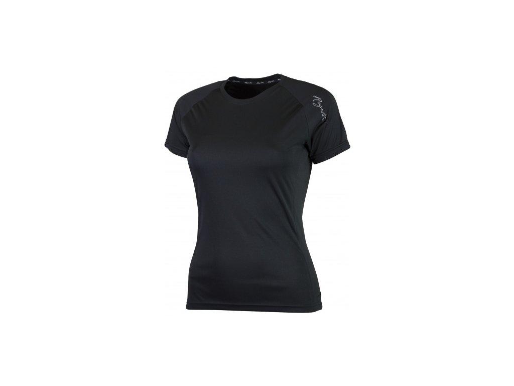 Dámské sportovní funkční triko Rogelli BASIC z hladkého materiálu, černé