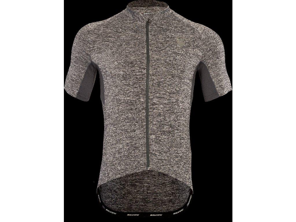 Pánský cyklistický dres Autore MD1203 charcoal