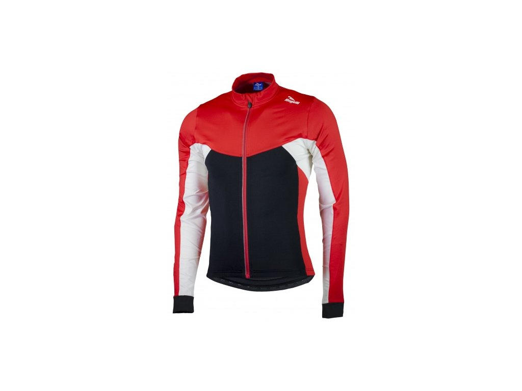 Hřejivý dětský cyklistický dres Rogelli RECCO 2.0 s dlouhým rukávem, černo-červený