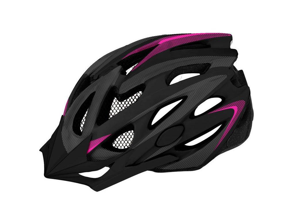 Dámská helma na kolo Etape Venus, černá/růžová mat
