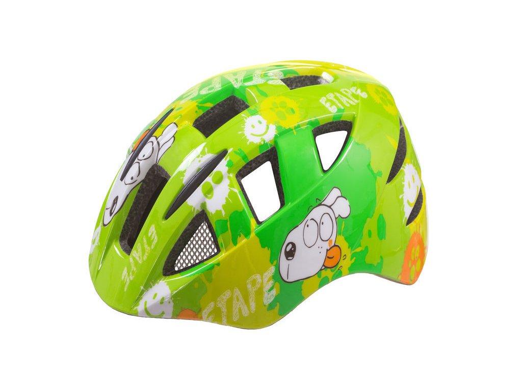 Dětská helma na kolo Etape Kitty, zelená