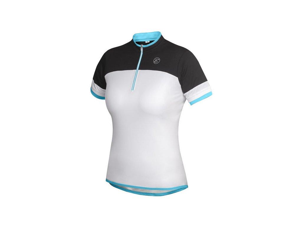 Dámský cyklistický dres Etape Clara, bílá/světle modrá