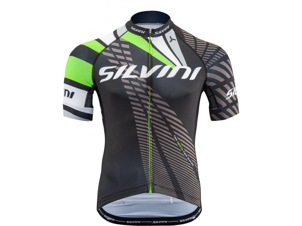 Pánský cyklistický dres Silvini Team MD1400 černý